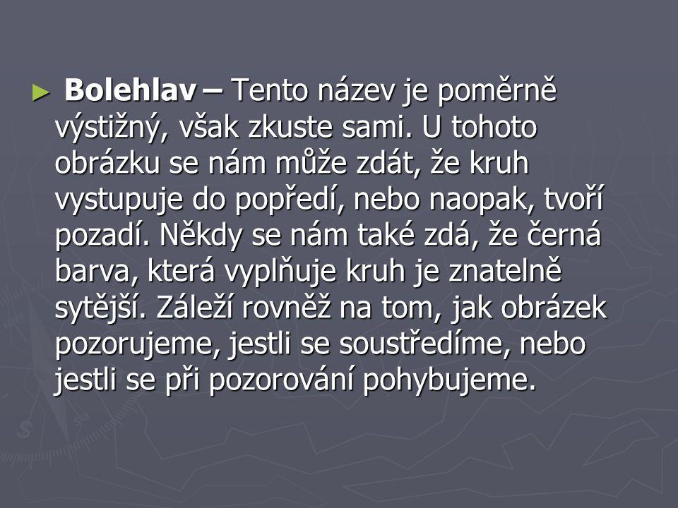 ► Bolehlav – Tento název je poměrně výstižný, však zkuste sami.