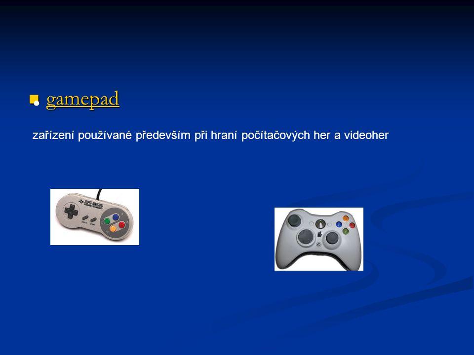 gamepad gamepad gamepad zařízení používané především při hraní počítačových her a videoher