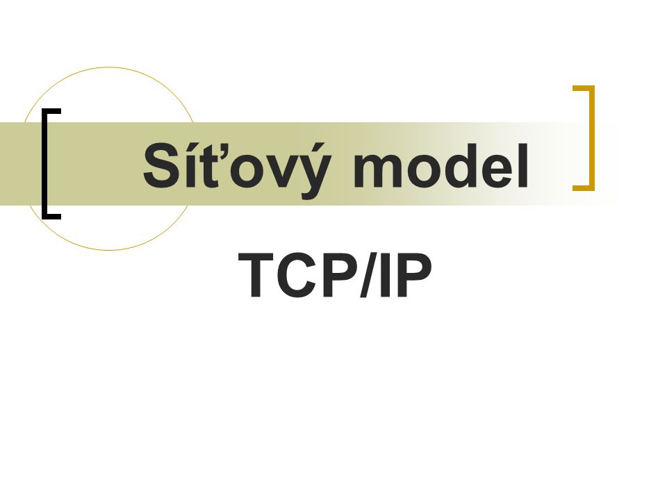 Síťový model TCP/IP