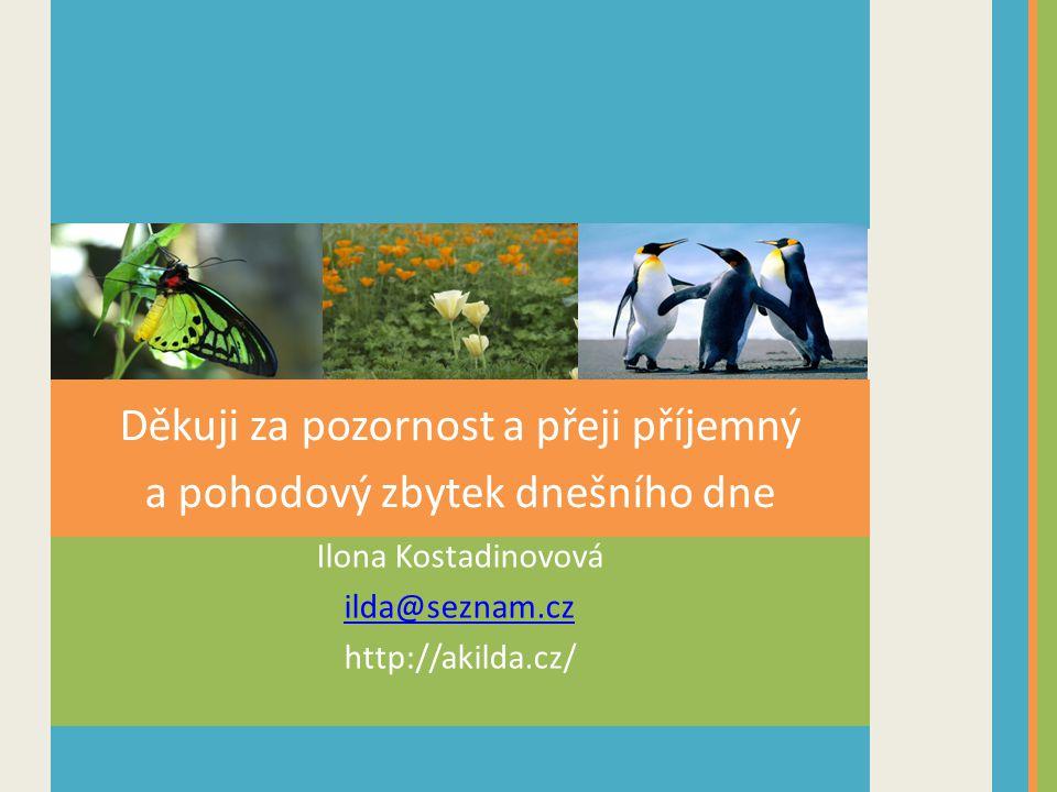 Ilona Kostadinovová ilda@seznam.cz http://akilda.cz/ Děkuji za pozornost a přeji příjemný a pohodový zbytek dnešního dne