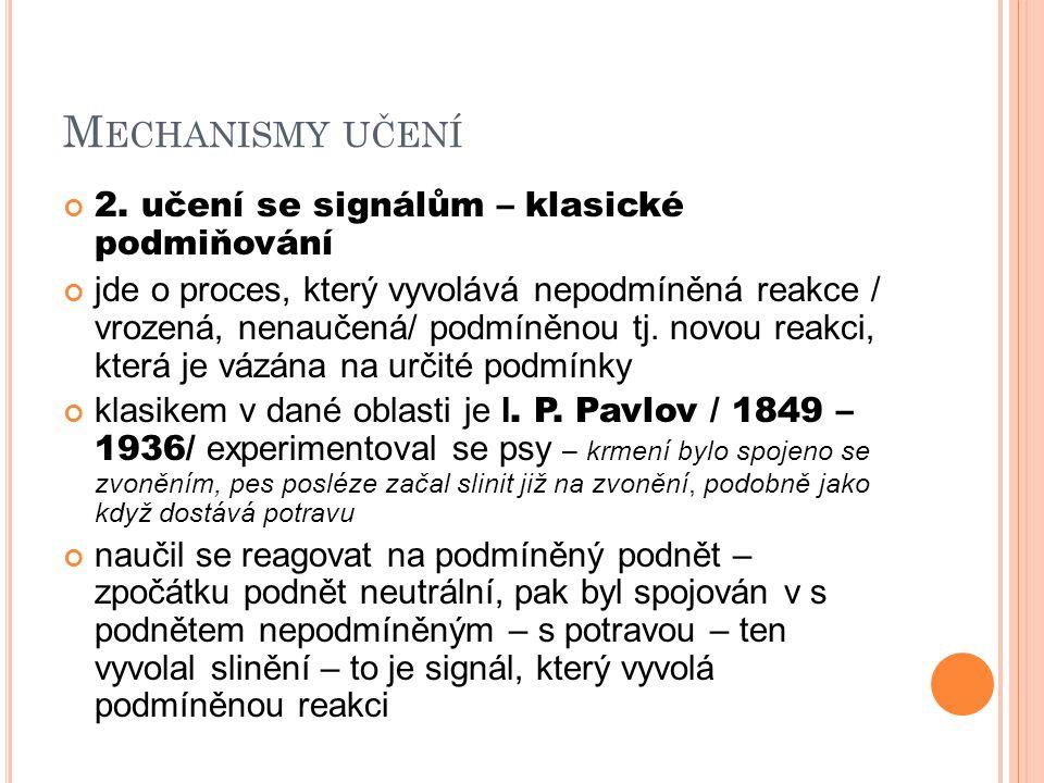 M ECHANISMY UČENÍ 2.