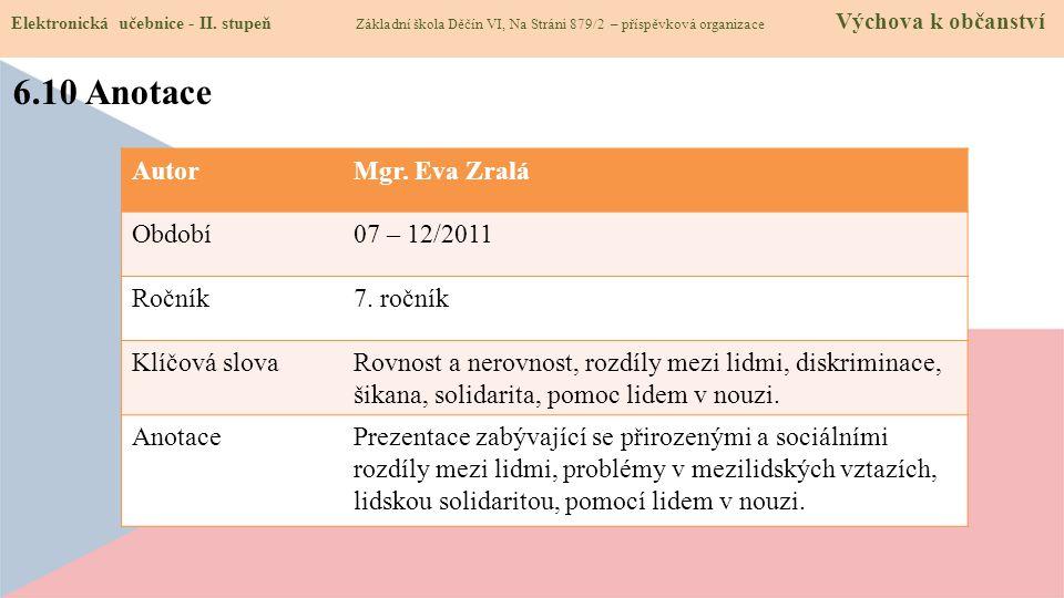 6.10 Anotace Elektronická učebnice - II.