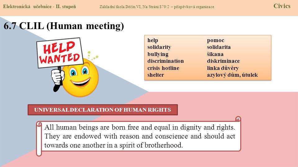 6.7 CLIL (Human meeting) Elektronická učebnice - II.