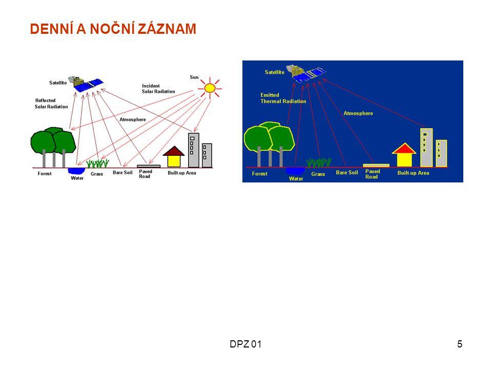 DPZ 0326 Spektrální pásma snímače tématického mapování (TM) družice Landsat PásmoVlnová délka [μm] Slovní označení Hlavní oblasti aplikace 10,45-0,52Modré (B) Navrženo pro průnik vodou, užitečné pro mapování pobřežních vod, pro rozlišení půdy / vegetace, mapování lesních typů a identifikaci kulturních objektů.