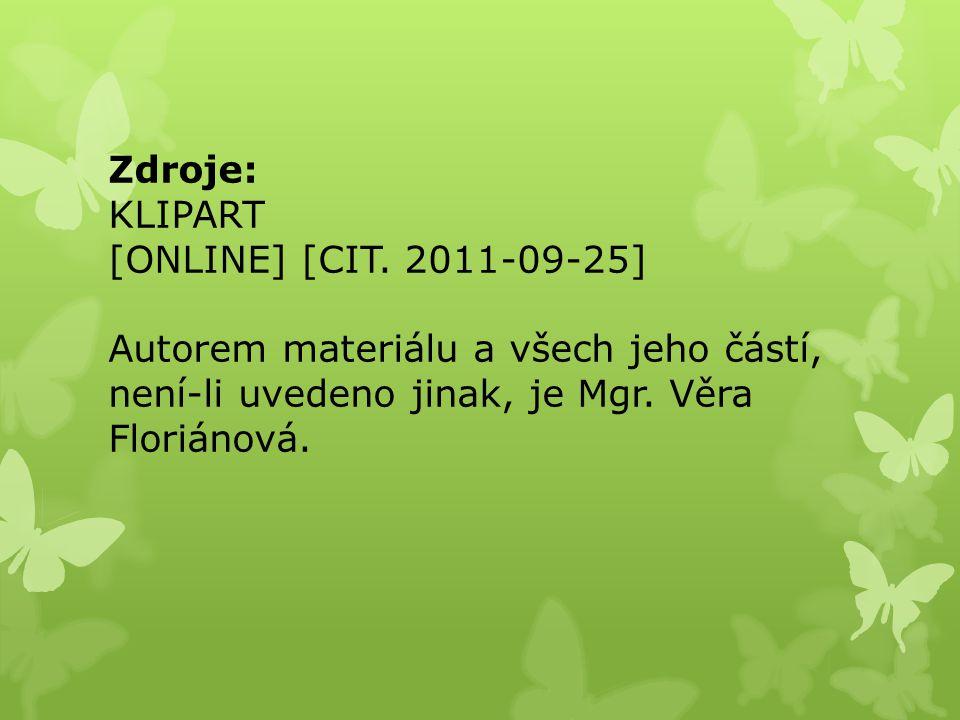 Zdroje: KLIPART [ONLINE] [CIT.