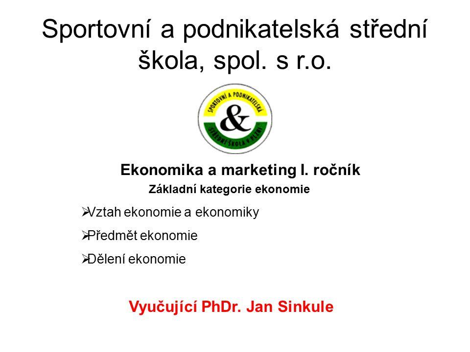 Musíme rozlišovat tři základní pojmy:  Ekonomika  Ekonomie  Ekonomické myšlení Co je ekonomika a kdy vznikla.