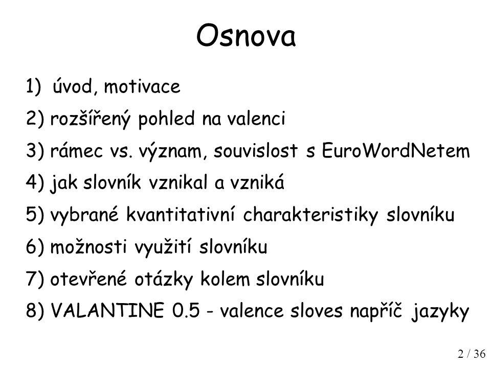 23 / 36 Hledání v Českém národním korpusu příklad: chodit na+4 dotaz: (lemma= chodit {0,6} word= na {0,3} tag= N...4.* ) within s nalezeno 2097 výskytů
