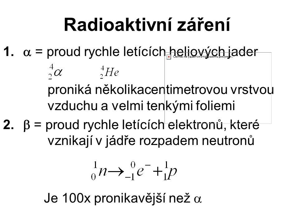Radioaktivní záření 1.