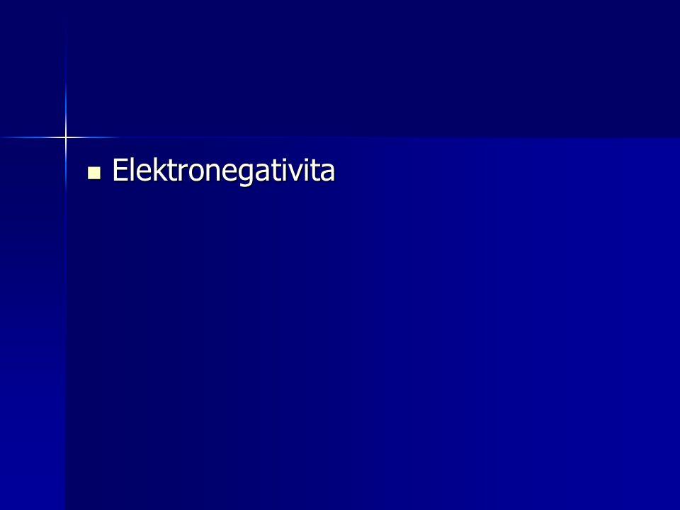 Elektronegativita Elektronegativita