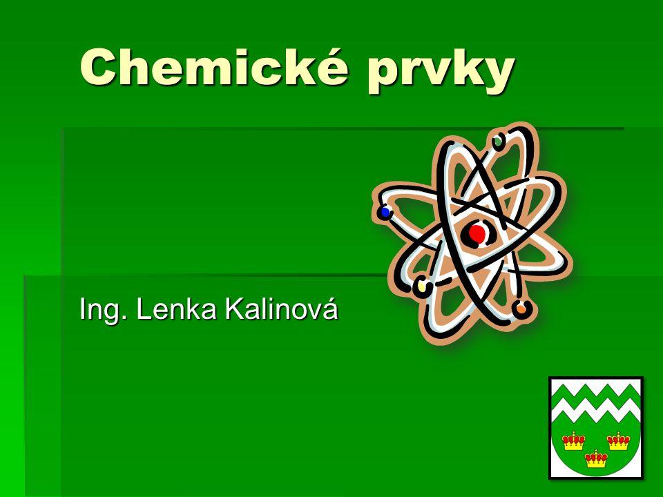 Atomy  Každý atom se skládá z kladně nabitého jádra a záporně nabitého obalu.