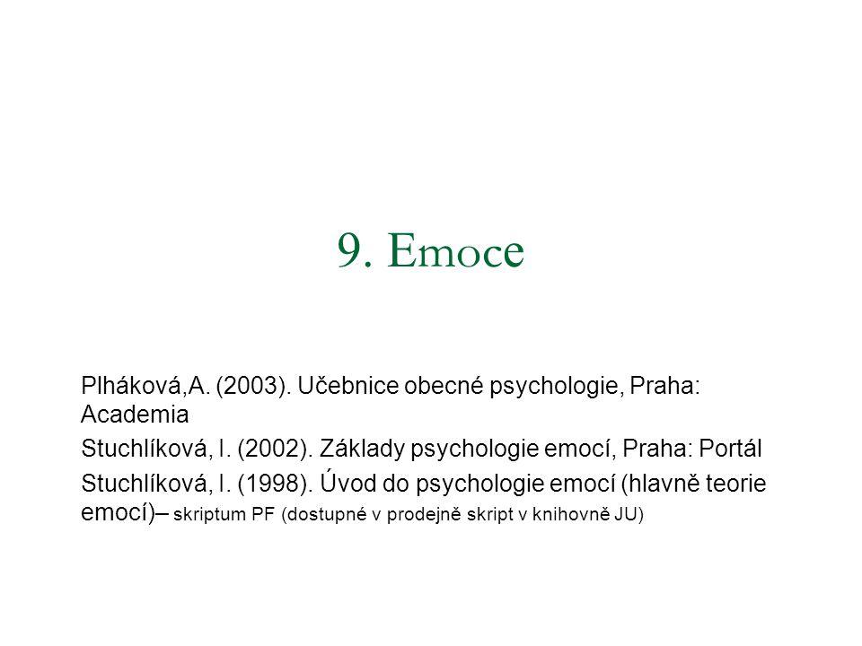 9.E moc e Plháková,A. (2003). Učebnice obecné psychologie, Praha: Academia Stuchlíková, I.