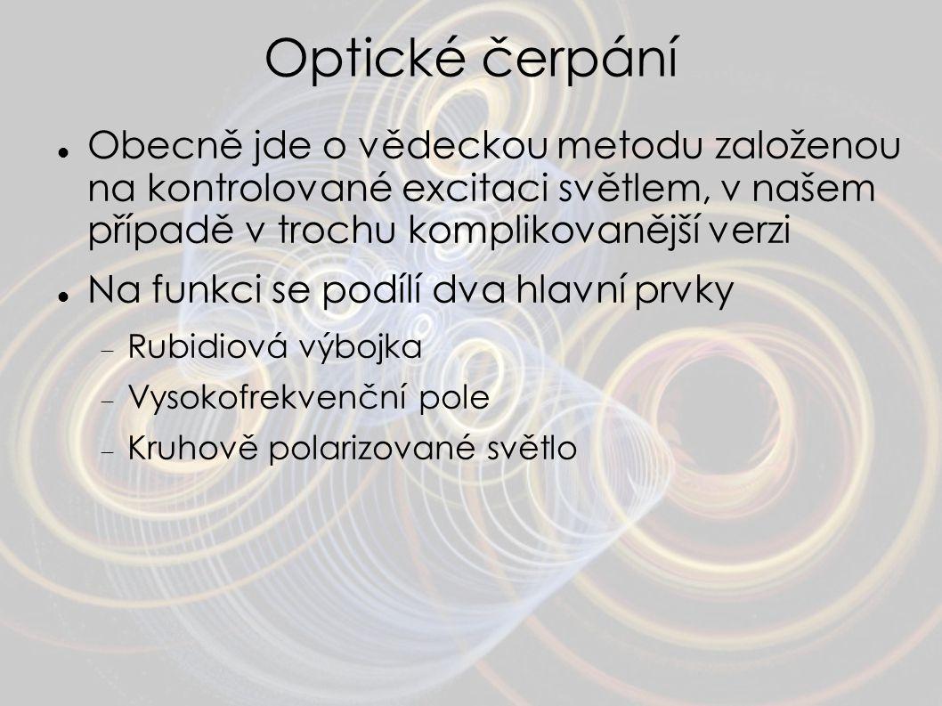 Optické čerpání Obecně jde o vědeckou metodu založenou na kontrolované excitaci světlem, v našem případě v trochu komplikovanější verzi Na funkci se p
