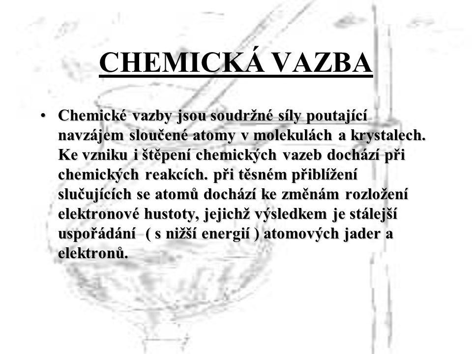 Chemické vazby jsou soudržné síly poutající navzájem sloučené atomy v molekulách a krystalech.