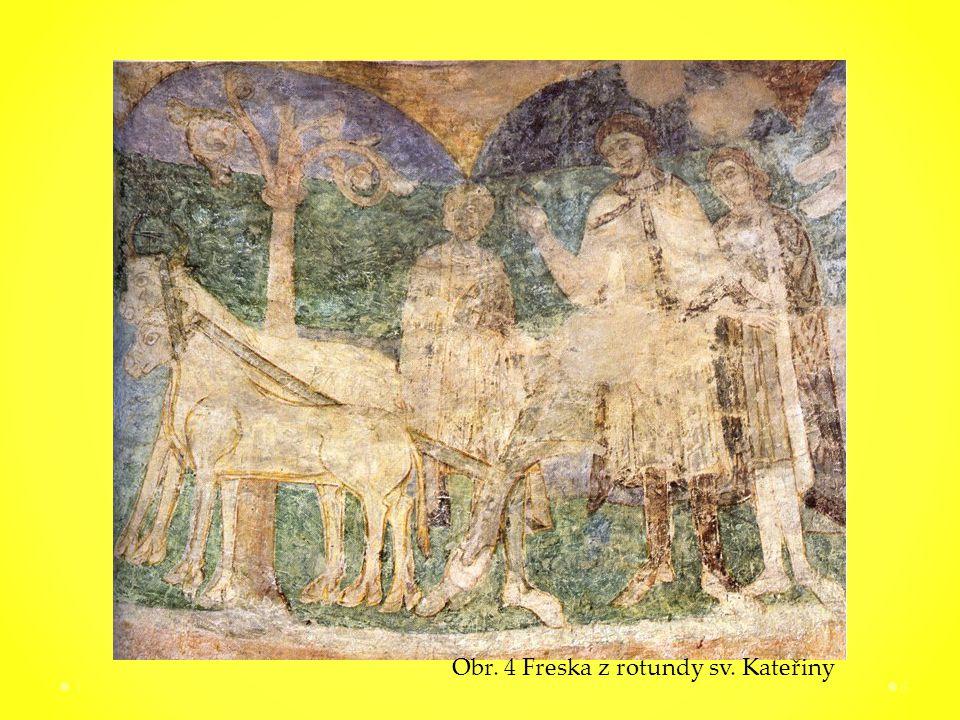 16 Obr. 4 Freska z rotundy sv. Kateřiny
