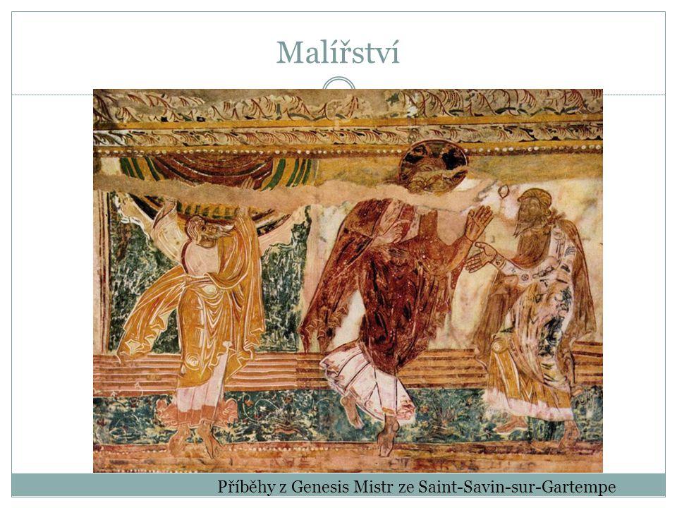 Malířství Příběhy z Genesis Mistr ze Saint-Savin-sur-Gartempe