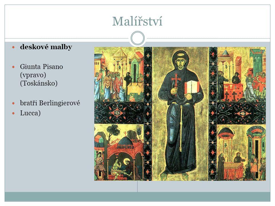 deskové malby Giunta Pisano (vpravo) (Toskánsko) bratři Berlingierové Lucca)