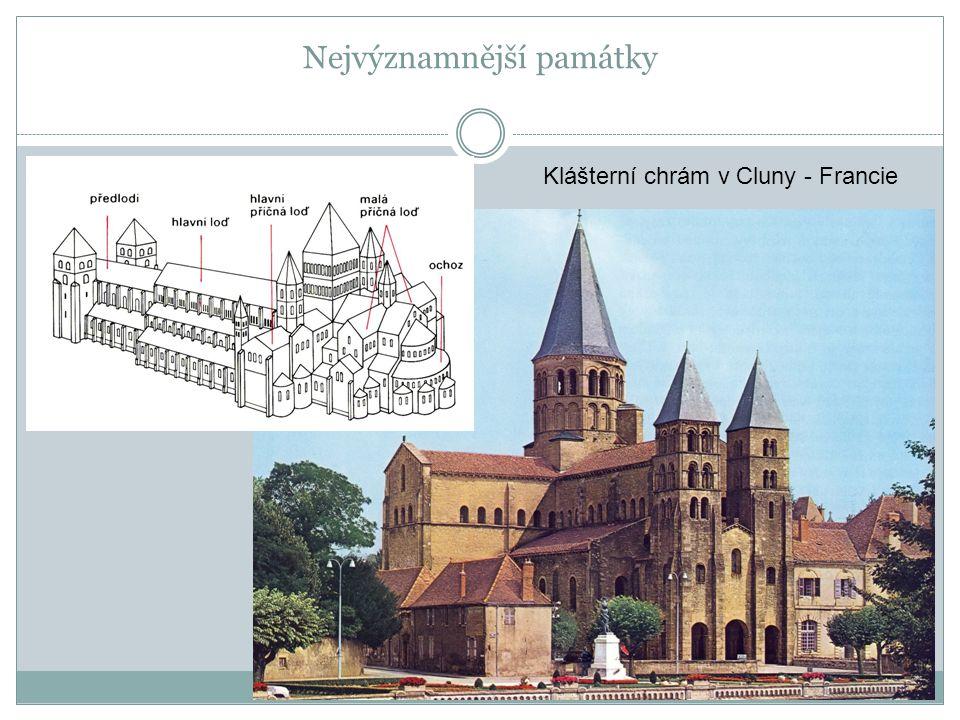 Nejvýznamnější památky Klášterní chrám v Cluny - Francie