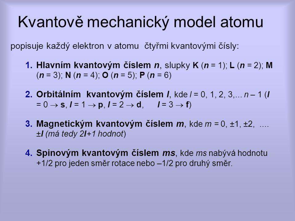 jádro atomu 1s 2 2s 2 2p 6 3s 2 3p 6 4s 2 3d 10 4p 6 5s 2 4d 10 5p 6 6s 2 5d 10 4f 14 6p 6 Elektronové dráhy - orbity orbit p orbit d