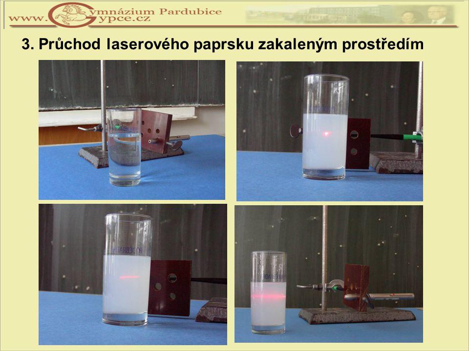 3. Průchod laserového paprsku zakaleným prostředím