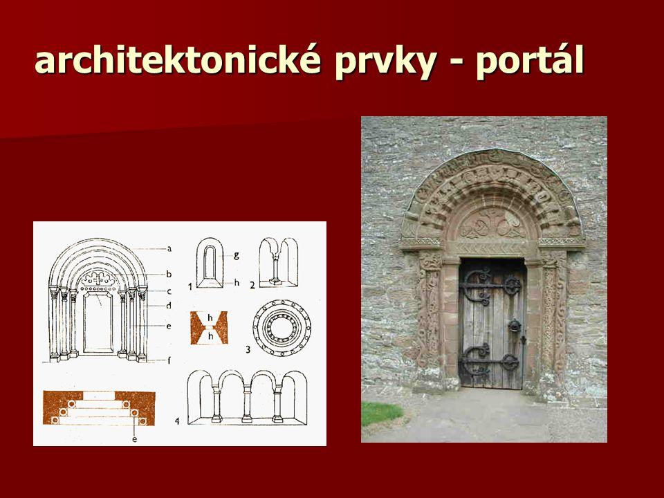 architektonické prvky - sloup a – krycí deska abakus b – hlavice c – prstenec d – dřík e – nárožník f – patka g - plintus