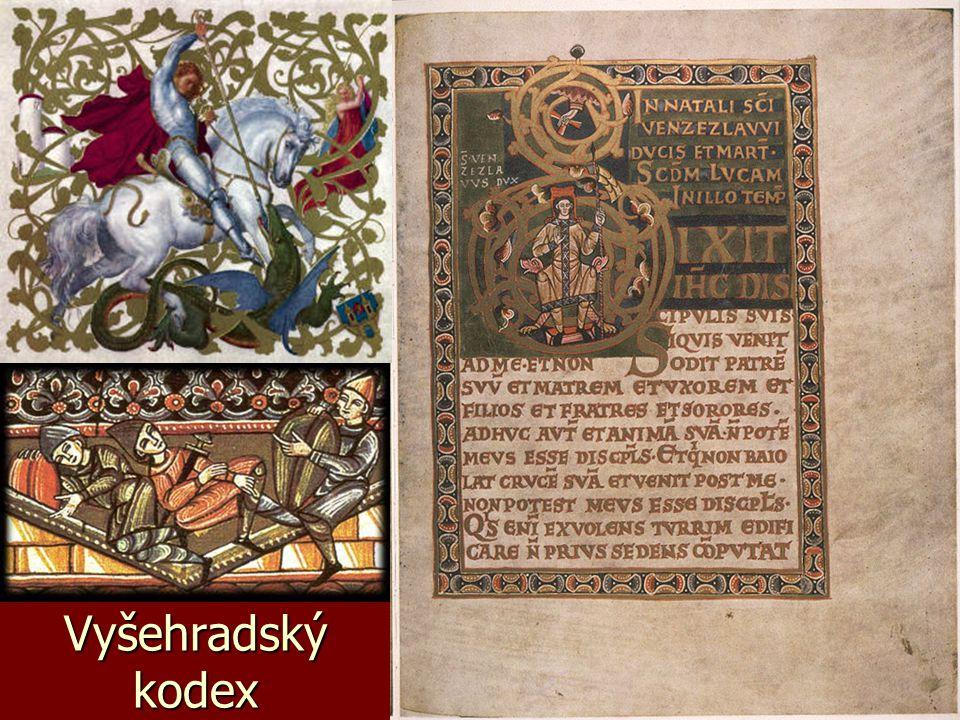 ilustrace, miniatury, notové zápisy knihy byly bohatě zdobené (iluminované) knihy byly bohatě zdobené (iluminované) ilustracím které je zdobí se říká MINIATURY ilustracím které je zdobí se říká MINIATURY dalšími zdobenými díly byly notové zápisy náboženských písní (graduály, kancionály, rorátníky, misály ad.) dalšími zdobenými díly byly notové zápisy náboženských písní (graduály, kancionály, rorátníky, misály ad.)