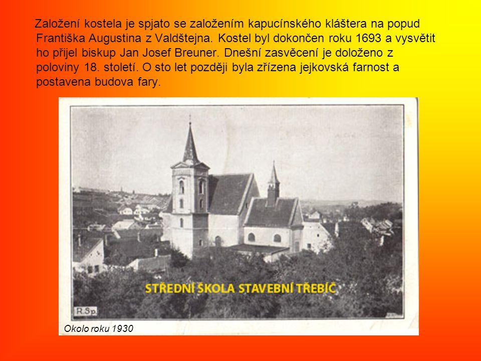 Založení kostela je spjato se založením kapucínského kláštera na popud Františka Augustina z Valdštejna.