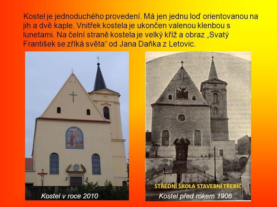 Kostel je jednoduchého provedení. Má jen jednu loď orientovanou na jih a dvě kaple.
