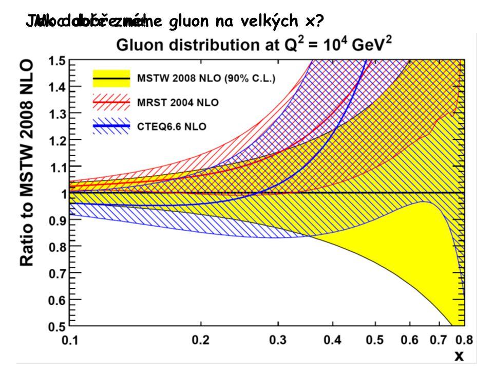 Jak dobře známe gluon na velkých x Moc dobře ne!