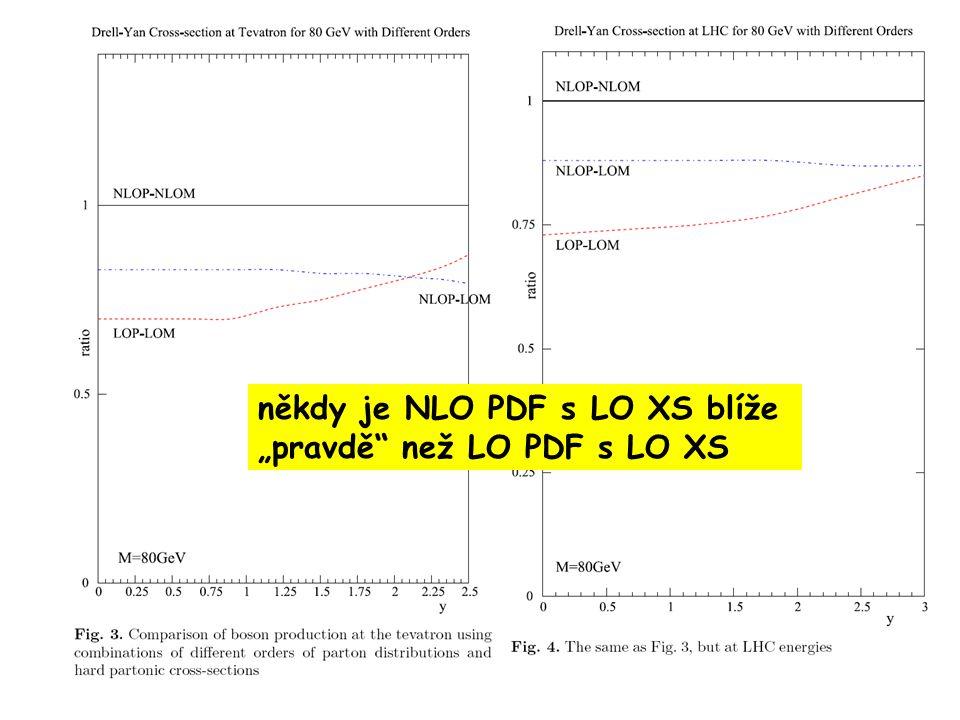 """někdy je NLO PDF s LO XS blíže """"pravdě než LO PDF s LO XS"""
