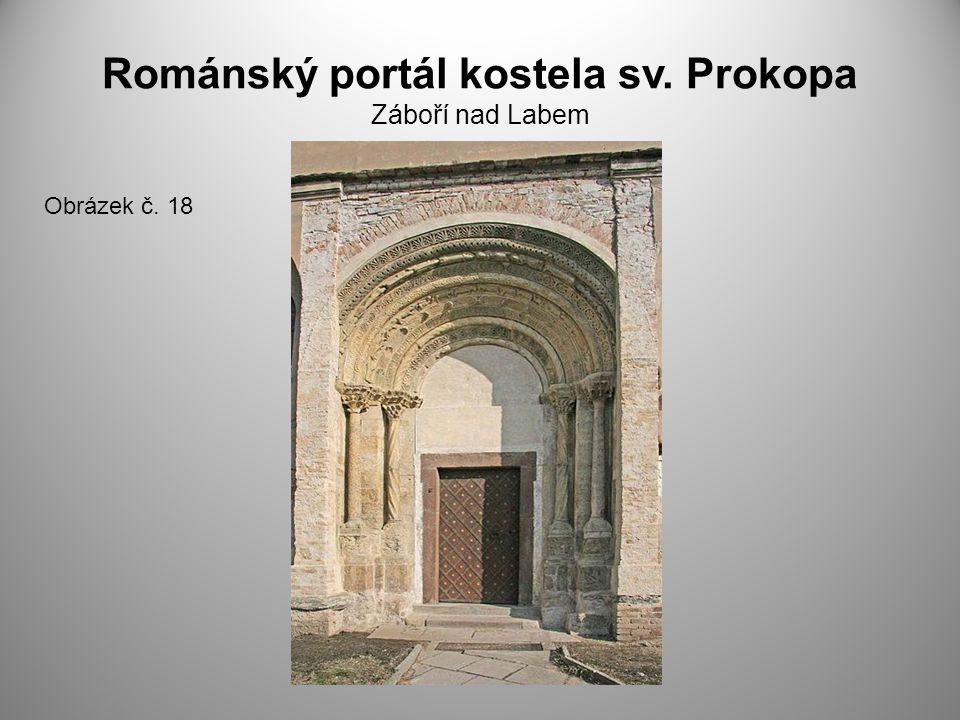 Románský portál kostela sv. Prokopa Záboří nad Labem Obrázek č. 18