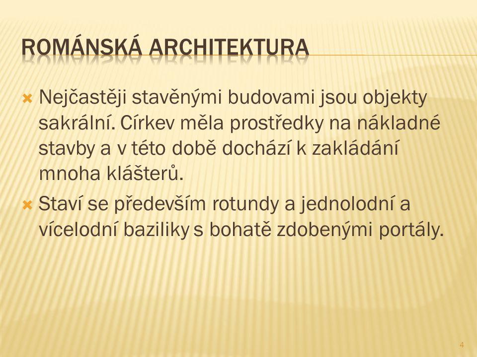  Nejčastěji stavěnými budovami jsou objekty sakrální.