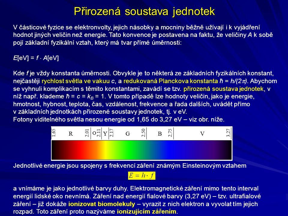 Interakce fotonového záření (  ) s látkou 1) Fotoelektrický jev (fotoefekt) Hlavním typem interakce fotonů s látkou je fotoelektrický jev ( fotoefekt ), při němž dochází k úplnému předání energie fotonu orbitálnímu elektronu.