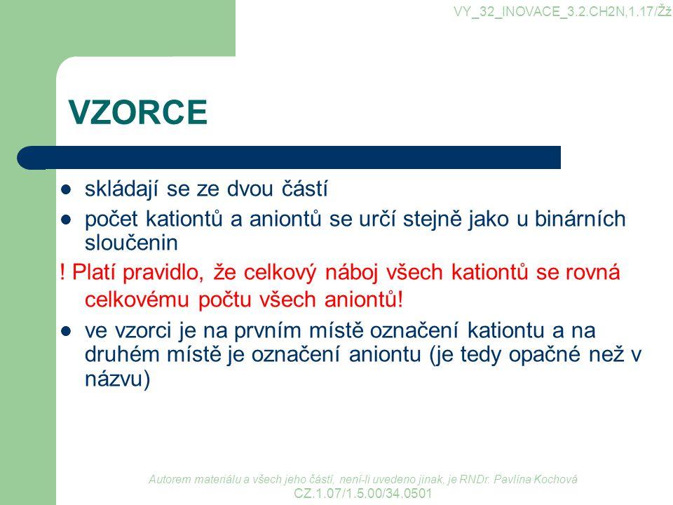 Zdroje BLAŽEK, Jaroslav.Přehled chemického názvosloví.