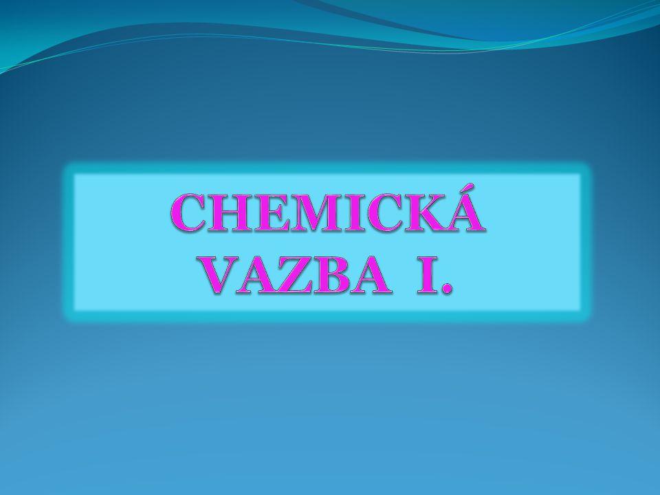 VVZNIK CHEMICKÉ VAZBY ZZÁKLADNÍ A VALENČNÍ STAV ATOMU TTYPY VAZEB EELEKTRONEGATIVITA