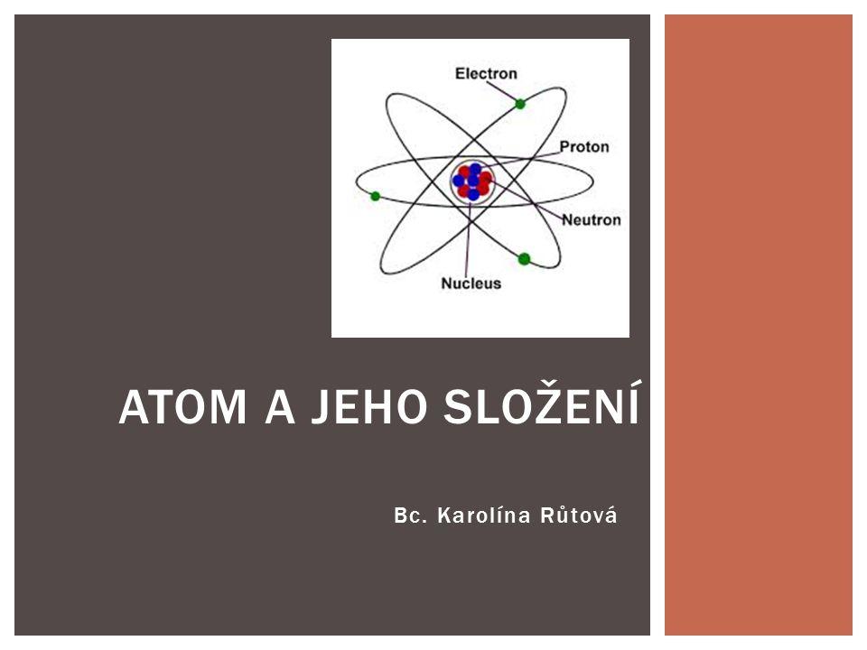  Co jste se o atomu již dozvěděli v hodinách fyziky.