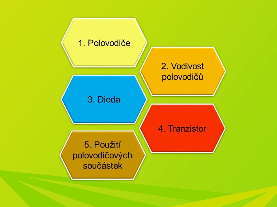 4.Tranzistor 5. Použití polovodičových součástek 5.