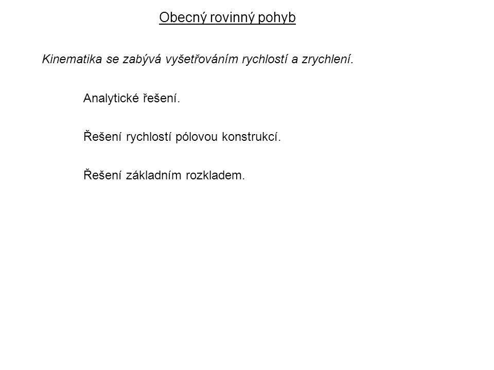 Dynamika I, 6.