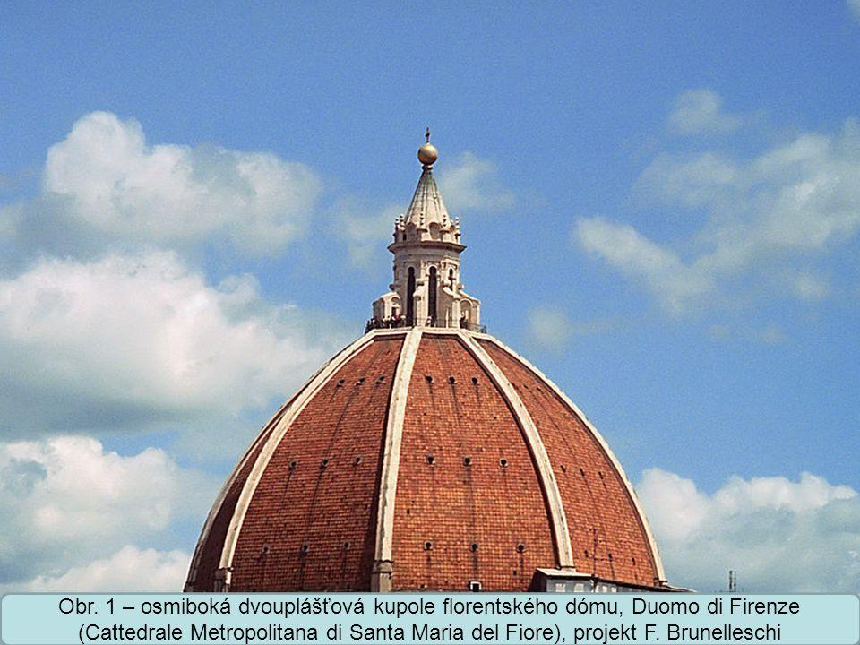 Střední škola Oselce Obr. 2 – výkres kupole florentského dómu, projekt F. Brunelleschi