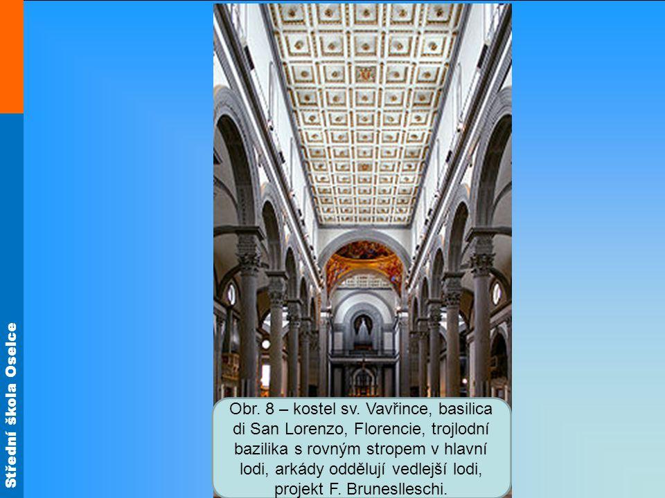 Střední škola Oselce Obr.9 – stará sakristie v kostele sv.