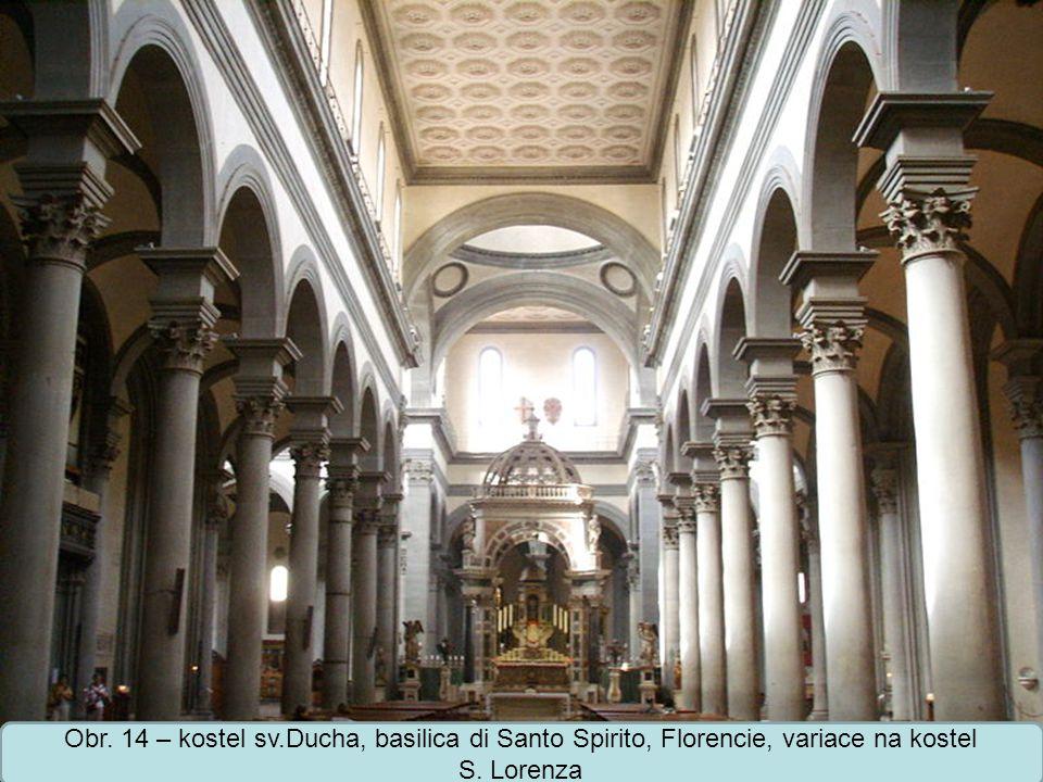 Střední škola Oselce Obr.15 – pallazo Pitti, nejmonumentálnější palác ve Florencii, projekt F.