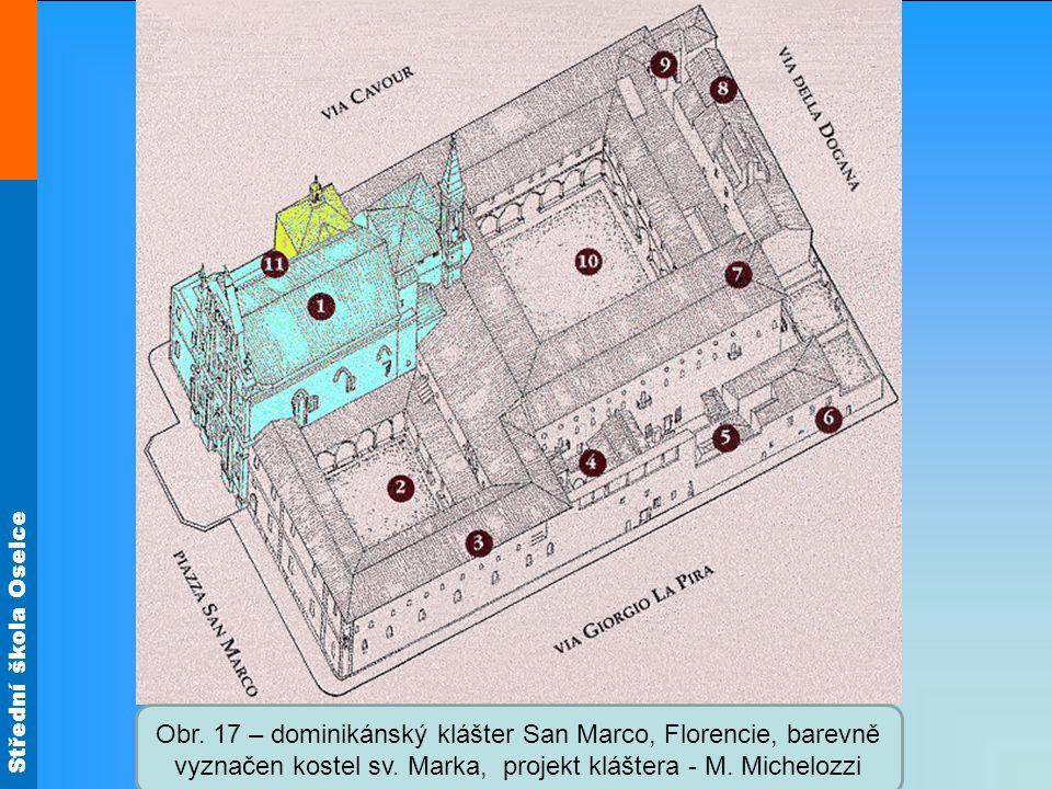 Střední škola Oselce Obr. 18 – knihovna dominikánského kláštera San Marco, projekt M. Michelozzi