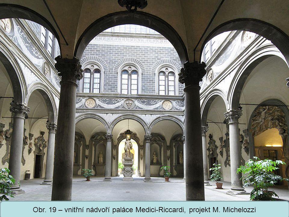 Střední škola Oselce Obr. 20 – palác Ruccelai, Florencie, projekt L. B. Alberti