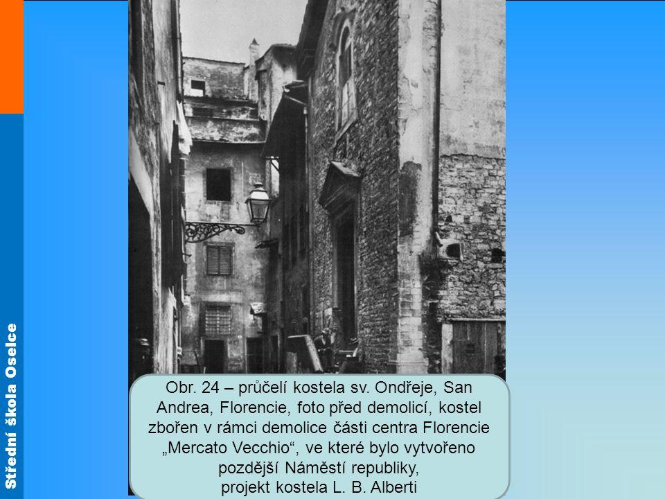 Střední škola Oselce Obr. 24 – průčelí kostela sv.