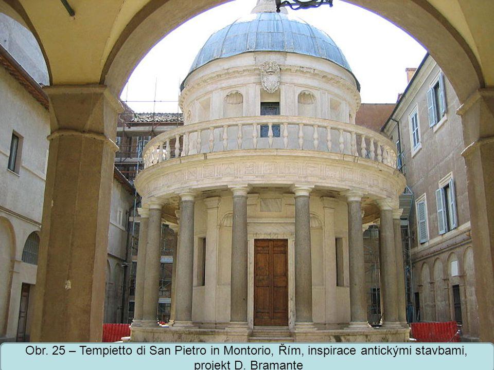 Střední škola Oselce Obr.26 – palác Cancelleria, palazzo della Cancelleria, Řím, projekt D.