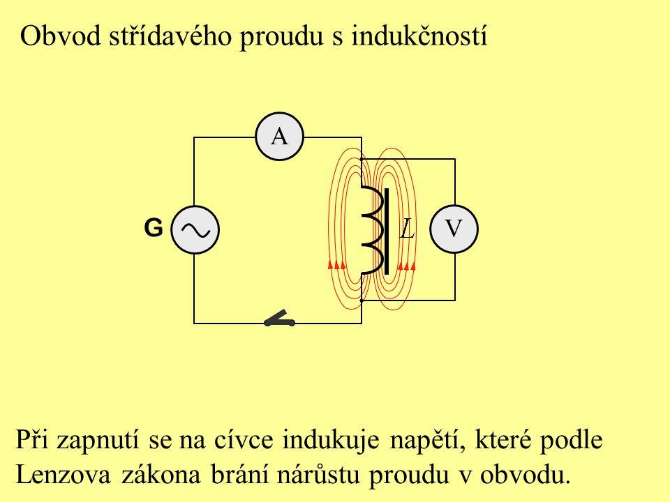 Fázový posun mezi napětím a proudem v obvodu se střídavým proudem s cívkou je: Test 3
