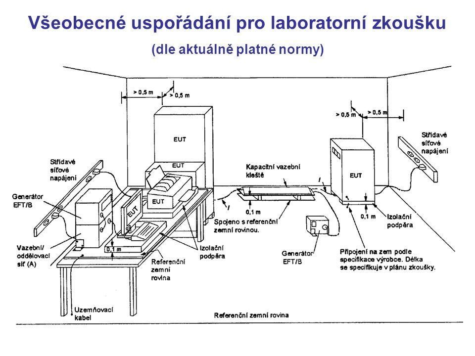 Všeobecné uspořádání pro laboratorní zkoušku (dle aktuálně platné normy)