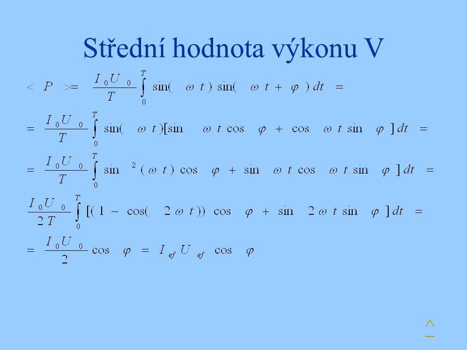 Střední hodnota výkonu V ^
