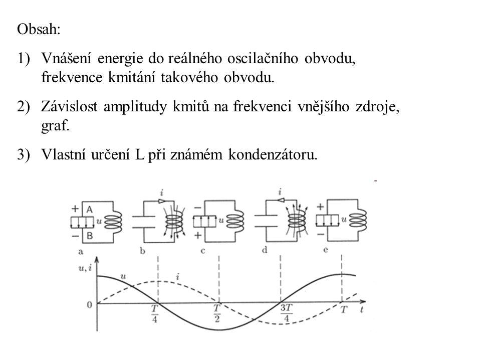 1)V reálném oscilačním obvodu vždy dochází ke ztrátám energie, protože použité součástky nemají ideální vlastnosti.