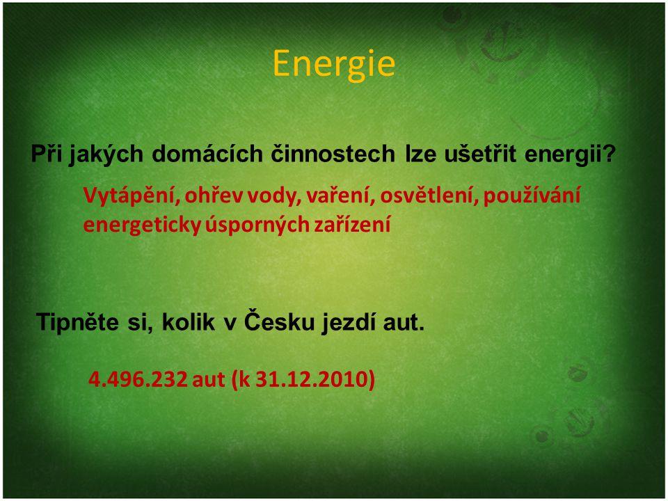 Šetření energií Zvýšení efektivnosti využívání energie Nejlevnější a nejvíce ekologická energie je ta ušetřená (nespotřebovaná) Šetření energií často snižuje pohodlí, ale ušetří nemalé finance Z důvodu globálních obav z oteplování se členské státy Evropské unie zavázaly, že sníží do roku 2020 spotřebu z klasických energetických zdrojů o 20 %.