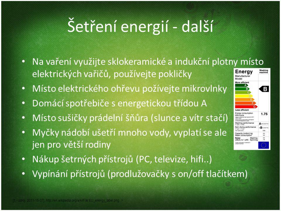 Šetření energií - další [1 - zdroj. 2011-15-07].